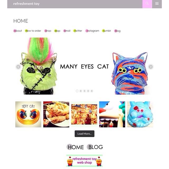 ブログ、Instagramに続き、refreshmentのホームページもNewデザインにしました