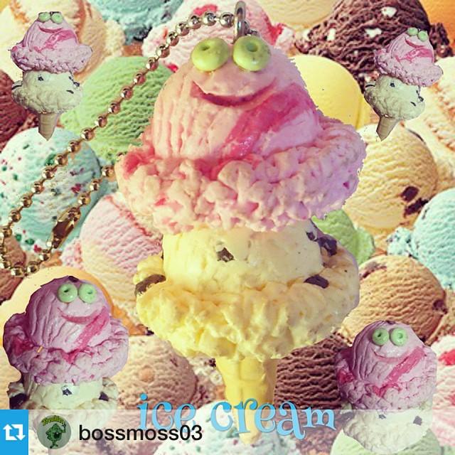 ありがとうございますなつかしい☺️Repost @bossmoss03@refreshmenttoy ayaさんの作品☆ 可愛いすぎてたまりません(,,> <,,)♡ icecreamアイスクリームsclpturehandmadeoriginalcutegoodkeychainkeyholder refreshmenttoy