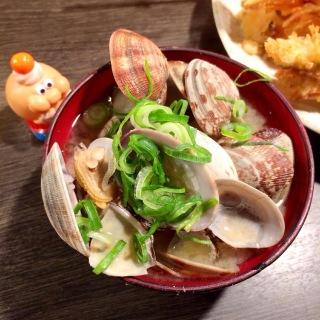 天ぷら大吉のあさり汁