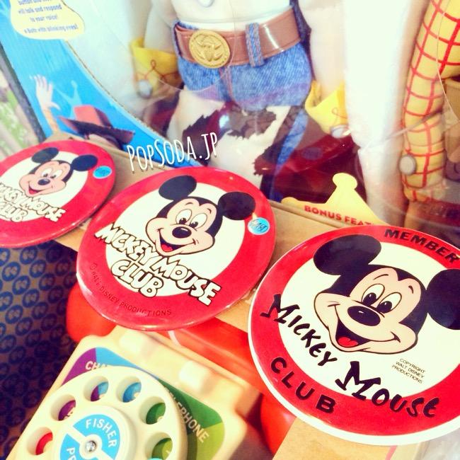ミッキーマウスクラブのビッグ缶バッジ