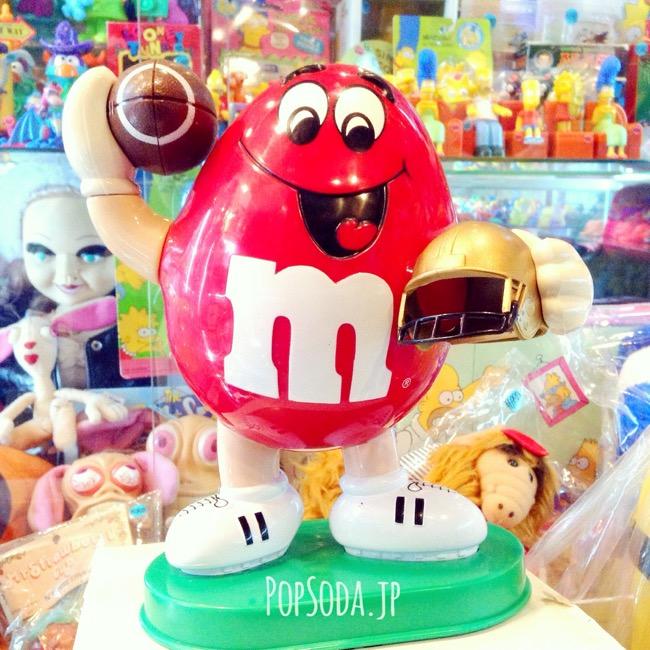 m&msレッドのチョコディスペンサー