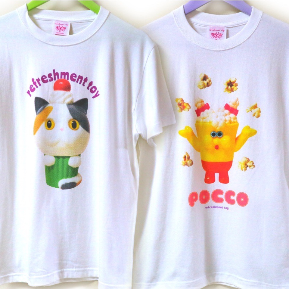 refreshmenttoyのsofubiプリントTシャツ