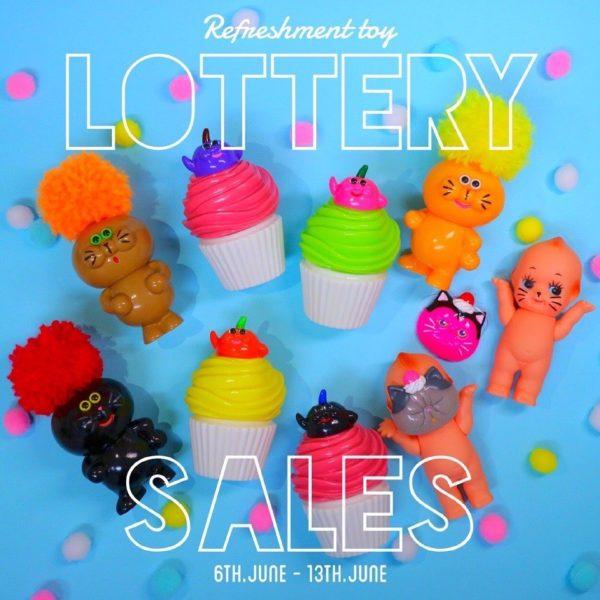 refreshmenttoy vinyltoys lottery sales